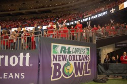 Ragin Cajun fans during the 2013 R+L Carriers New Orleans Bowl