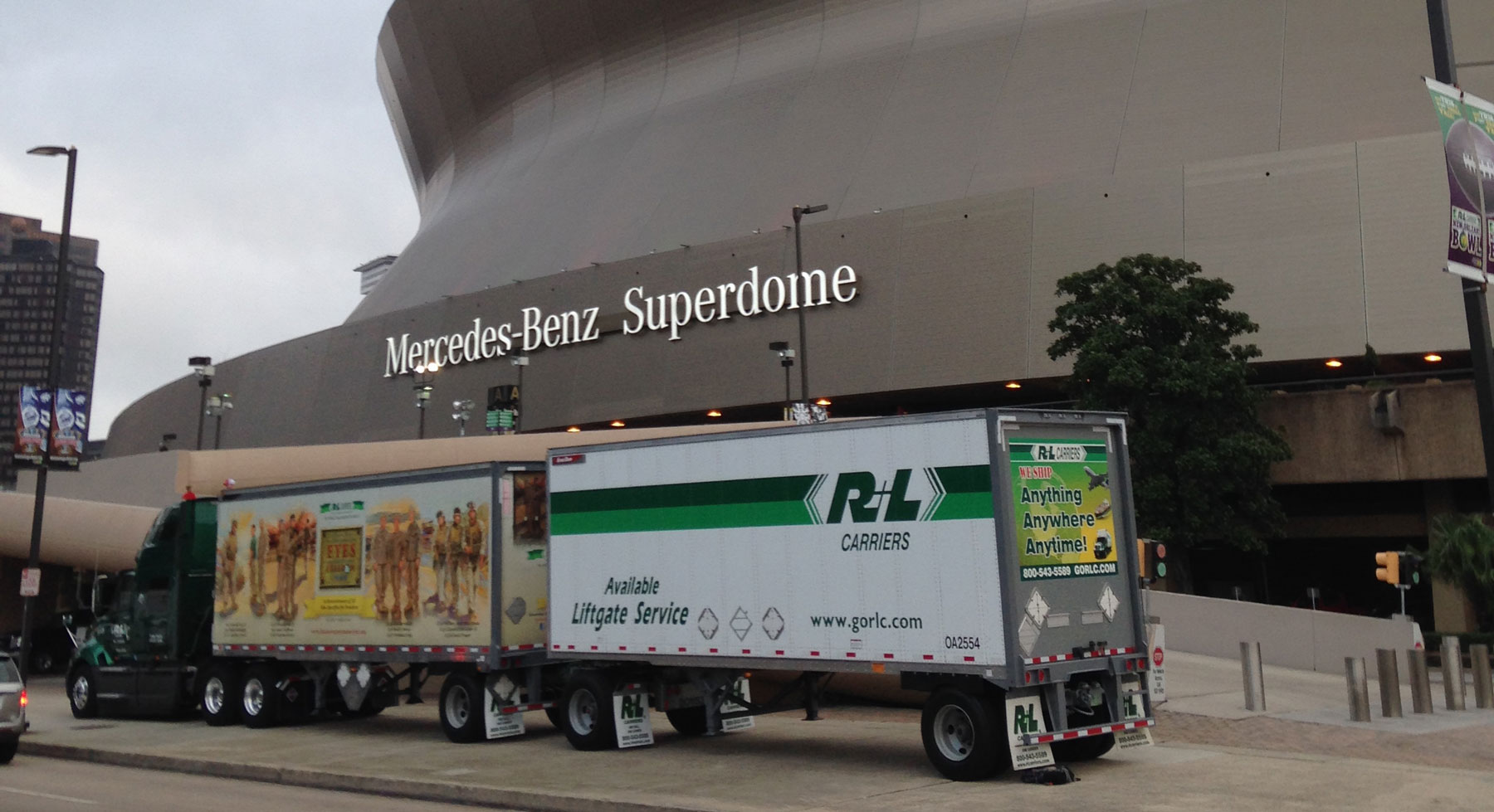 R+L Carriers at the Superdome