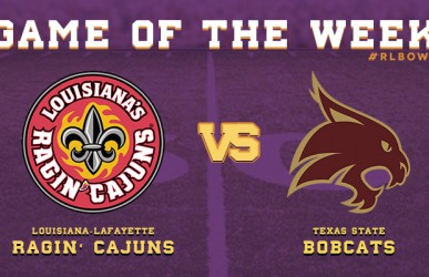 Defending R+L Carriers New Orleans Bowl Champions, UL-Lafayette, take on Texas State on Tuesday night!