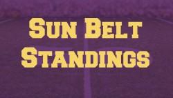 sun belt standings