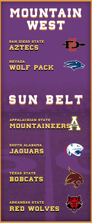 Sun Belt and MWC Teams with 6 wins this season.