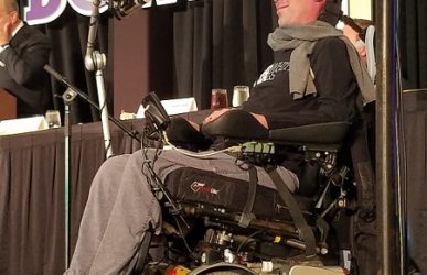 Steve Gleason gave an inspiring keynote address at the R+L Carriers New Orleans Bowl Players and Coaches luncheon
