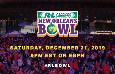 R+L Carriers New Orleans Bowl Saturday, December 21, 2019 at 9PM EST