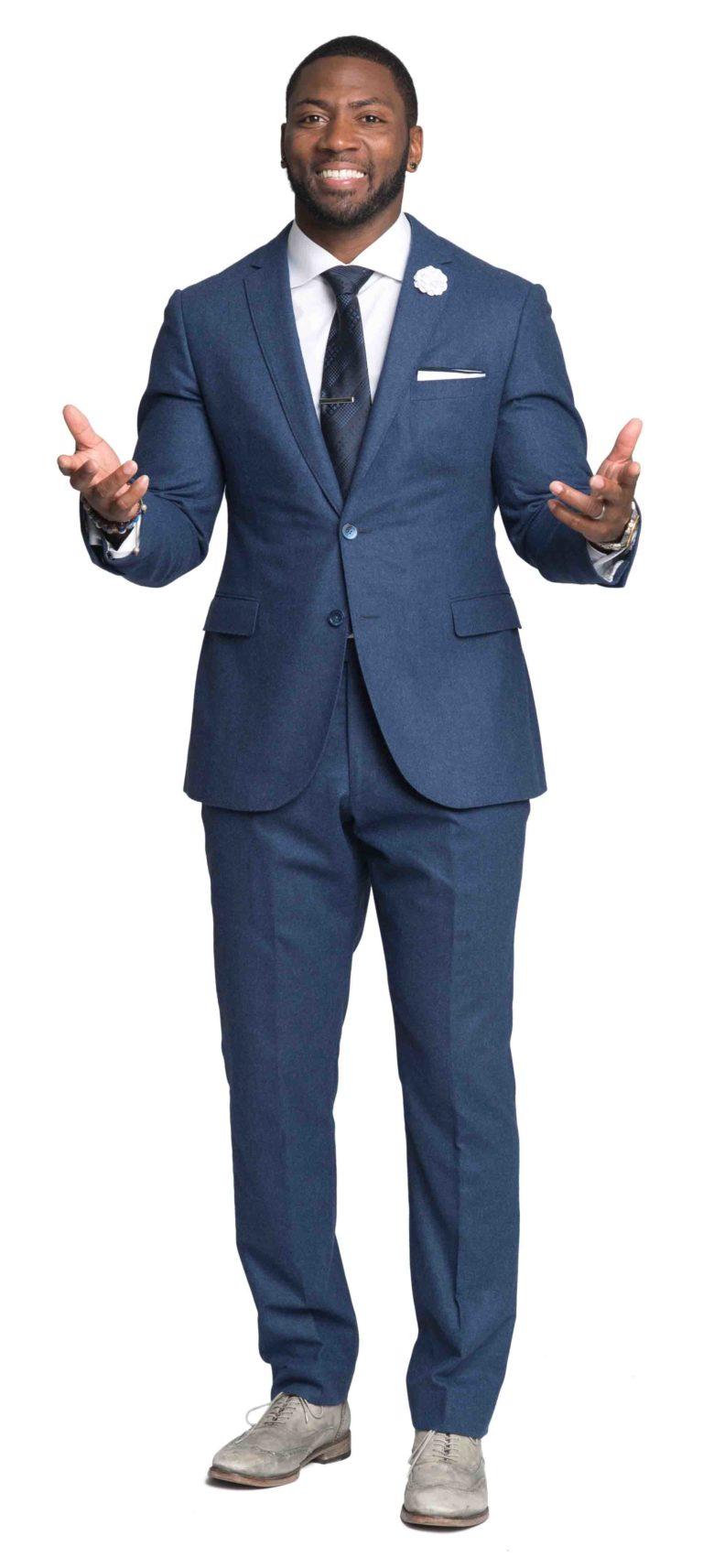 Ryan Clark in his ESPN attire